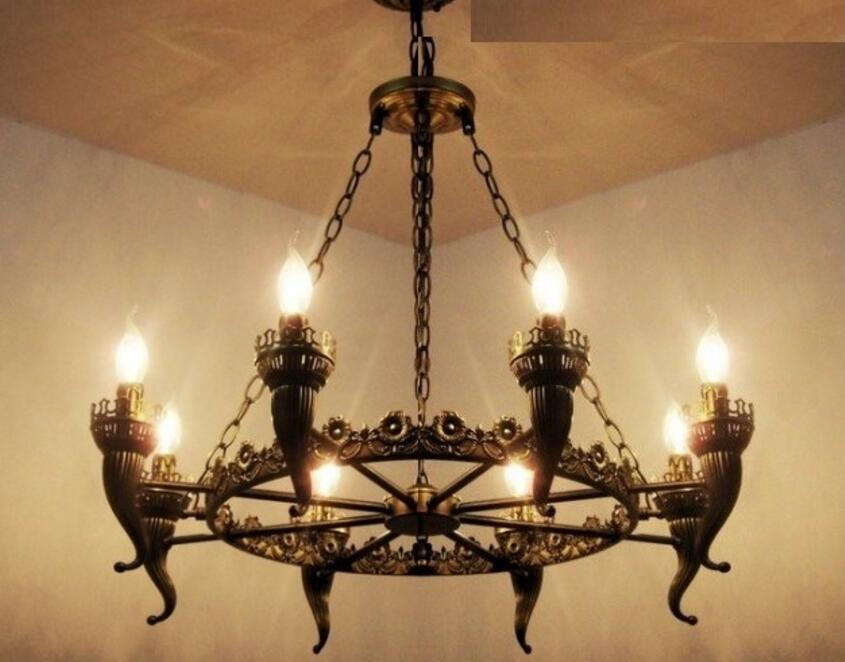 Antique Iron Chandelier Lights Bronze antique light for living room Dining  Room Chandelier Bronze Free shipping - Compare Prices On Bronze Antique Chandelier- Online Shopping/Buy
