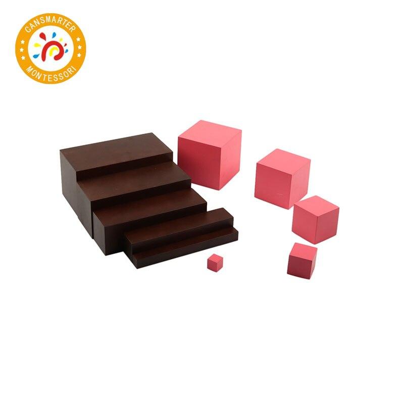 Montessori Materials Baby Toys Brown Stair 5 Steps Preschool Training Kid Toy - 6