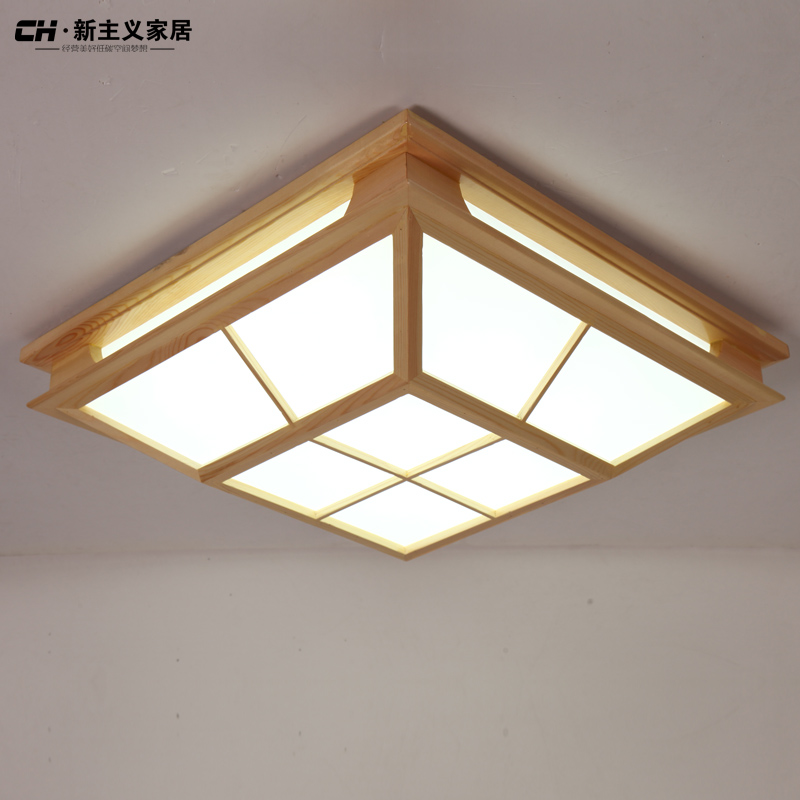 japanese style lighting. solid wood tatami japanese style bedroom ceiling lamp plafonnier 5730 led moderne brief light lighting a
