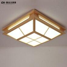 Твердая древесина татами японском стиле спальня потолочные светильники plafonnier 5730 led модерн краткое потолочное освещение luminarias де teto