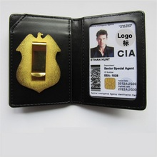 United States CIA Police Special Agent Officer Badges Leather Case Holder ID Card Driving Wallets Gift Cosplay Collection