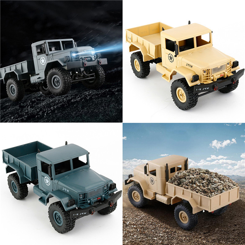 цены 1/16 2.4G 4WD Military Truck Four-wheel Drives Off-road Climbing Car Model 1:16 Remote Control Cars With Built-in Battery