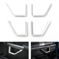 YAQUICKA 4Pcs/set Car Interior Door Panel Strips Cover Trim Sticker Styling For Ford F150 2015+ ABS