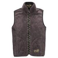 New Outdoor Autumn Winter Vest Reversible Style Men Thicken Fleece Fashion Waistcoat Jacket Autumn Men Vest