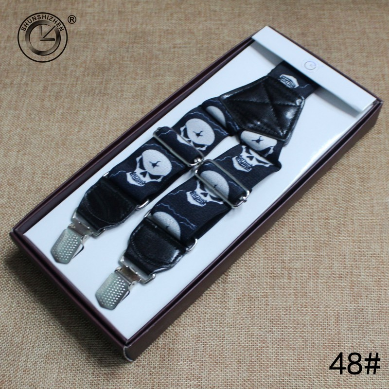 Fashion Skull Men Suspenders