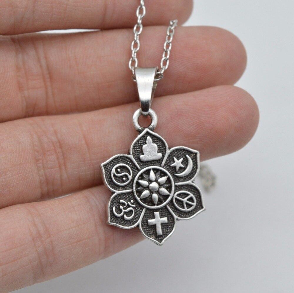 1pc coexist tibetan silver lotus yogo pendant om religious belief 1pc coexist tibetan silver lotus yogo pendant om religious belief necklace for women men fashion jewelry sgl221 1 in pendant necklaces from jewelry aloadofball Gallery