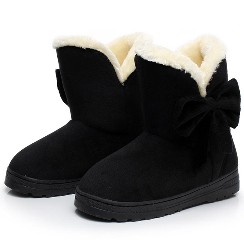 Women Boots Female Warmer Plush Shoes Woman Boots Winter Ankle Boots For Winter Women's Snow Shoes Fashion Platform Black winter women snow boots fashion footwear 2017 solid color female ankle boots for women shoes warm comfortable boots