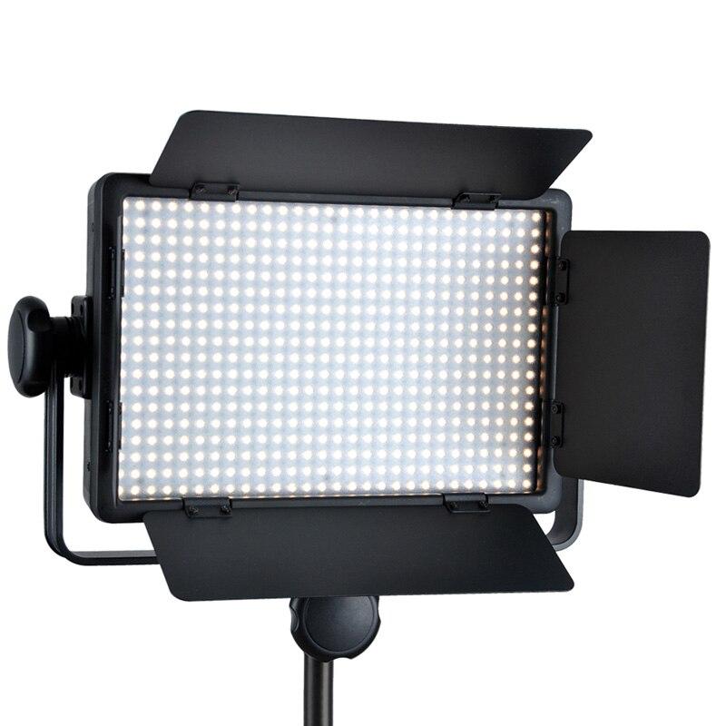 bilder für Freies DHL Godox 500 Led-lampe-panel 3300-5600 Karat Bi-farbe Video Licht Beleuchtung LED500C LED500W + Wireless Remote + Netzteil