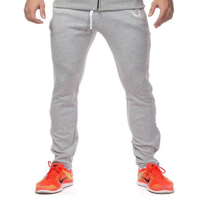 Mens Joggers 2016 brand men's trousers harem pants casual pants sweatpants Jogger Black And gray sportswear