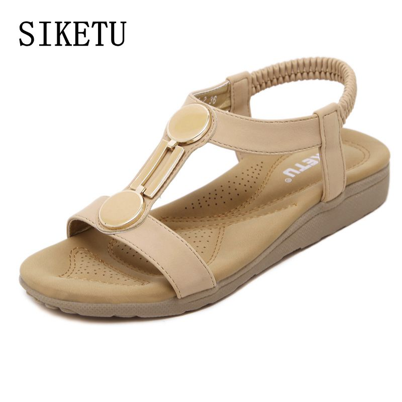 SIKETU 2017 summer new women's sandals casual comfortable flat-bottomed woman sandals large size non-slip soft beach sandals 40 dalvey держатель для скотча dalvey 00797