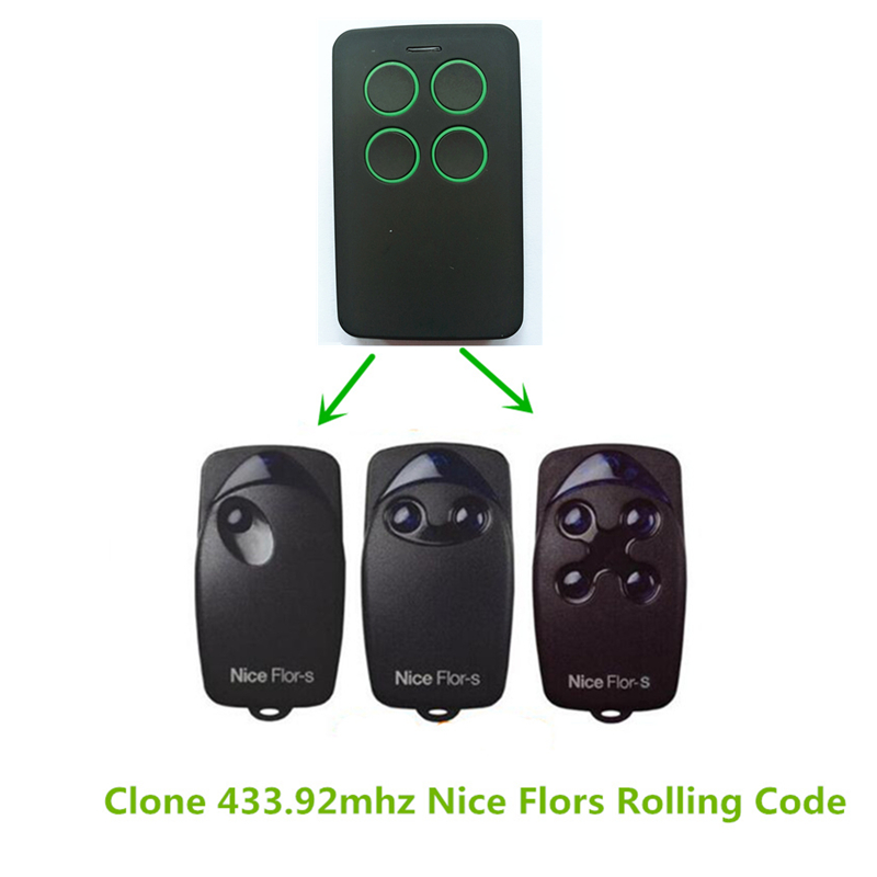 5x universal remote control 433.92MHZ rolling code Nice Flors gate garage door opener remote control free shipping 50pcs for nice flo2r s garage door remote control free shipping