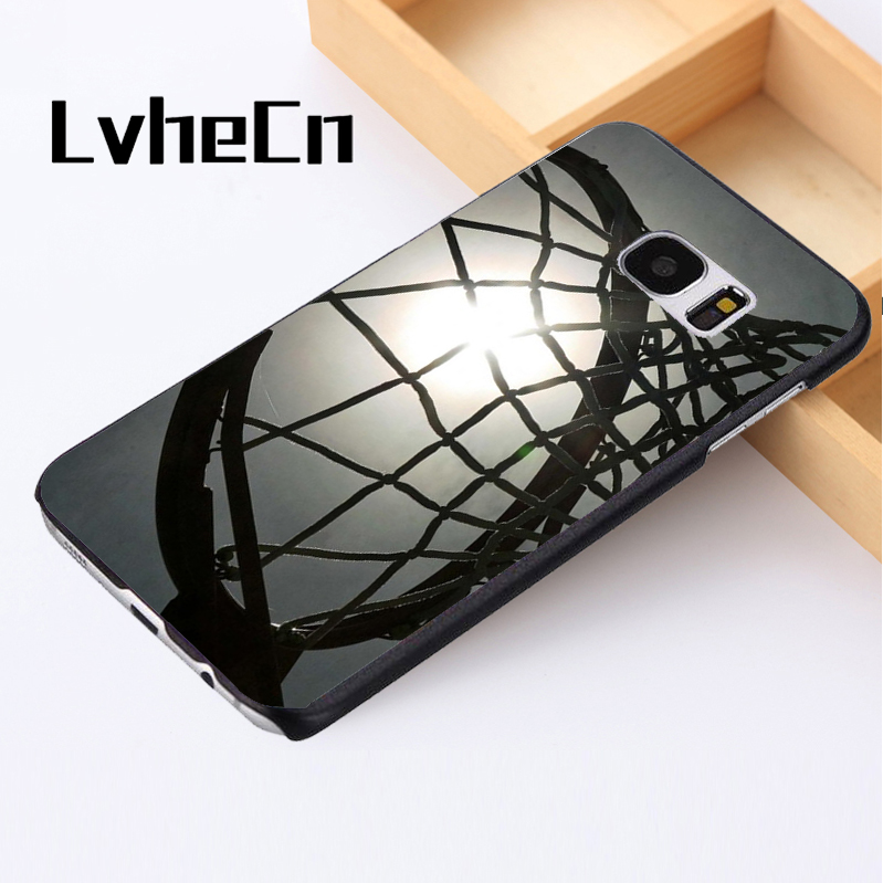 LvheCn phone case cover For Samsung Galaxy S3 S4 S5 mini S6 S7 S8 edge plus Note2 3 4 5 7 8 Netball Hoop Ring Basketball