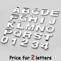 2letters/lot car body styling 3D ABS capital English letter numbers stickers DIY auto logo brands badge emblem displacement mark