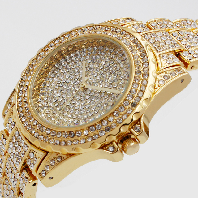 Luxury Brand Lady Gold Watches Women Full Stainless Steel Wristwatches Magic Wom