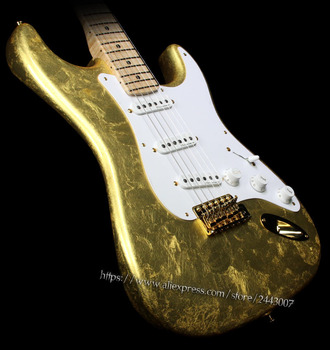 GC Custom Shop Todd Krause Master Built Eric Clapton Electric Guitar Gold Leaf - Right or Left-Handed?
