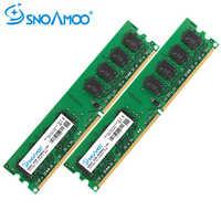 Ordenador de sobremesa SNOAMOO RAMs DDR2 4GB (2x2 GB) 800MHz PC2-6400S 240 pines 1,8 V DIMM para intel y AMD Compatible con la garantía de memoria de ordenador