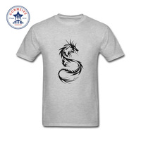 2017 Fashion Nieuwe Gift Tee Dragon tattoo Katoen Grappige T-shirt voor mannen