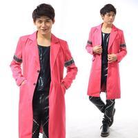 Красный персонализированные певица блейзеры этап рок пиджак мужской костюм модные костюмы для мужчин пиджак masculino Настраиваемые