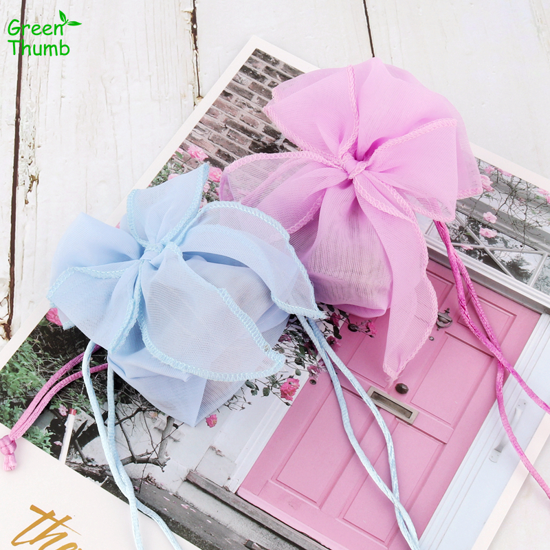 40pcs 13 5 9 5cm Colored Mesh Bag Christmas Gift Bag Wedding Candy Bags Sweet Bow-Knot Organza Gift Bags for Home Decoration