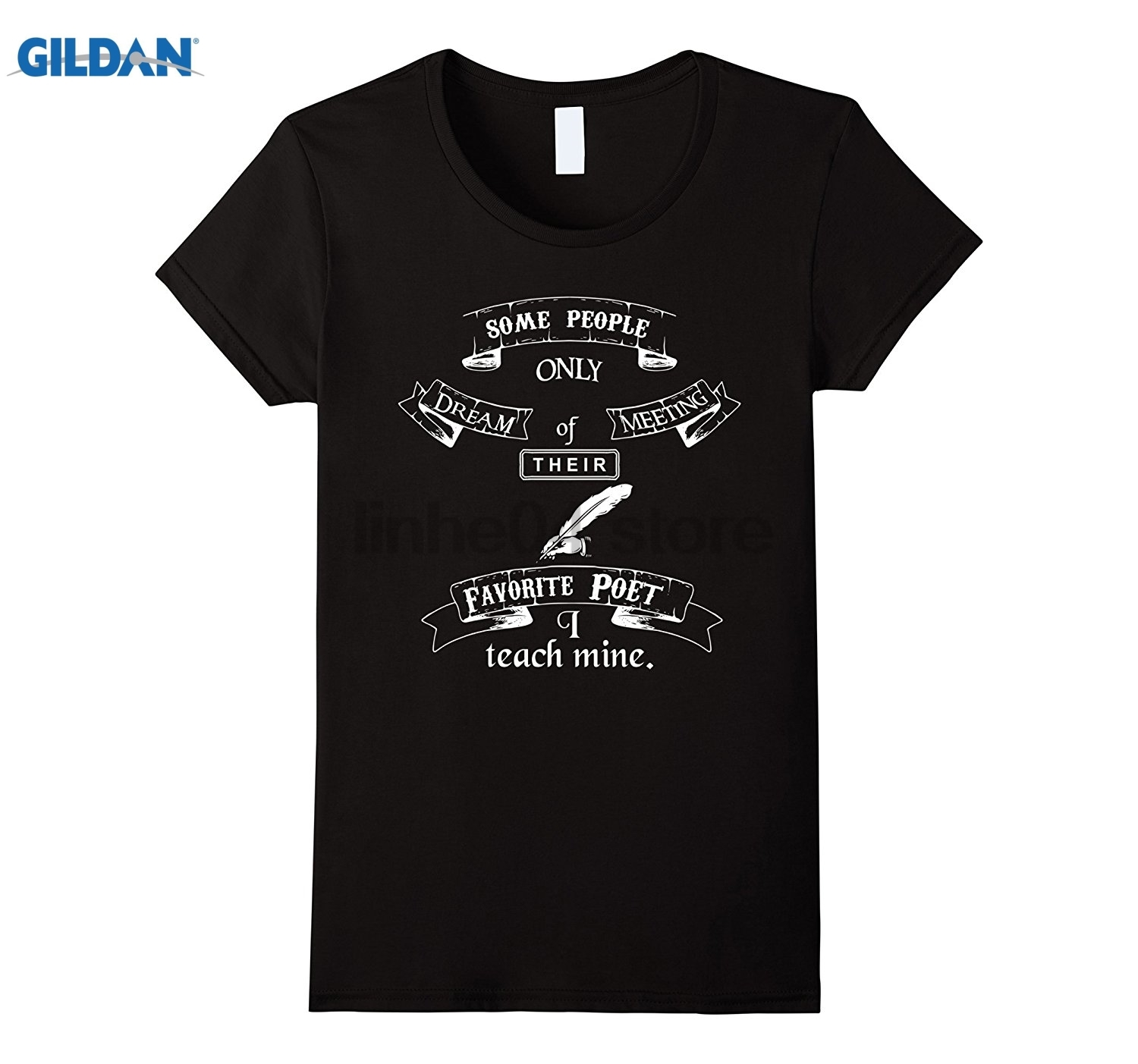 GILDAN I Teach Mine English Teacher Gift T-Shirt Dress female T-shirt ...