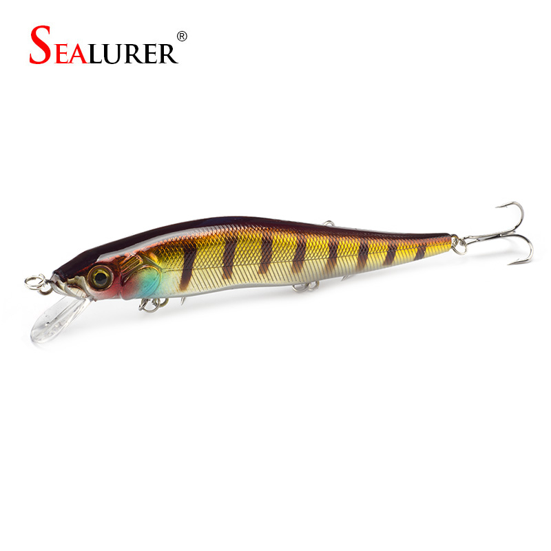 SEALURER 1PCS 14cm 23g Fishing Lure Minnow Hard Bait with 3 Fishing Hooks Fishing Tackle Lure 3D Eyes Crankbait Free Shipping 1pcs 20cm 45g fishing lure large minnow lure artificial 3d eyes hard minnow baits with hooks fishing tackle senuelos de pesca