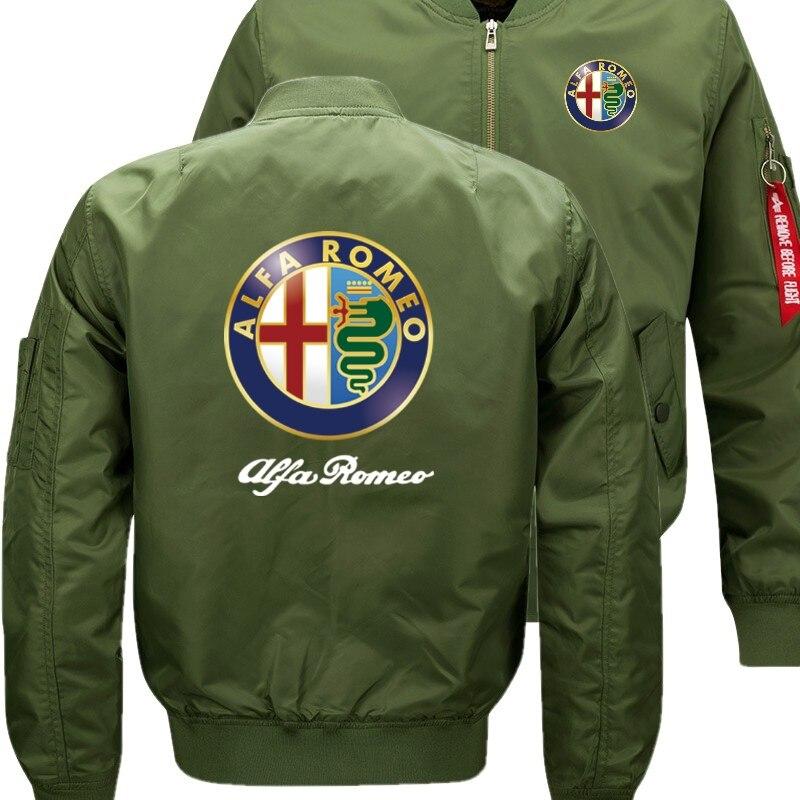 Новый Alfa Romeo куртка-бомбер полет Летающий зимняя куртка Сгущает Теплый молнии Для мужчин куртки аниме Для Мужчин's Повседневное пальто nbw A +
