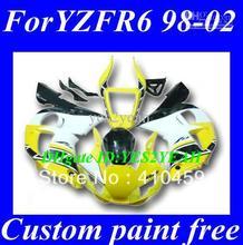 Зализа ABS для YAMAHA YZFR6 1998 1999 2000 2001 2002 YZF R6 YZF-R6 YZF600 98 99 00 01 02 популярные желтый белый blk обтекатели комплект +(China (Mainland))