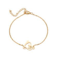DOTIFI Stainless Steel Bracelet For Women Gold And Silver Color Heart Musical Note Pulseira Feminina Lover's Engagement Jewelry