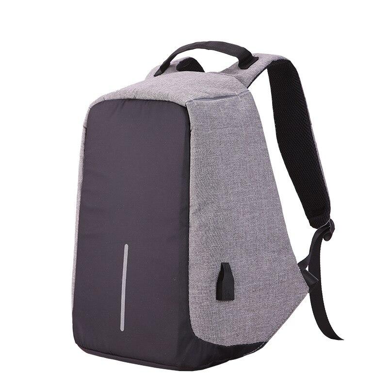 2018 nouveau toile hommes sac à dos Anti-vol avec chargeur Usb ordinateur portable affaires unisexe sac à dos épaule étanche femmes sac de voyage