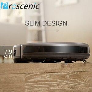 Image 4 - Proscenic 811 Gb Robotic Stofzuiger Geluidsarme Slanke Ontwerp Elektrische Controle Water Tank Robot Aspirador Met Grens Magnetische