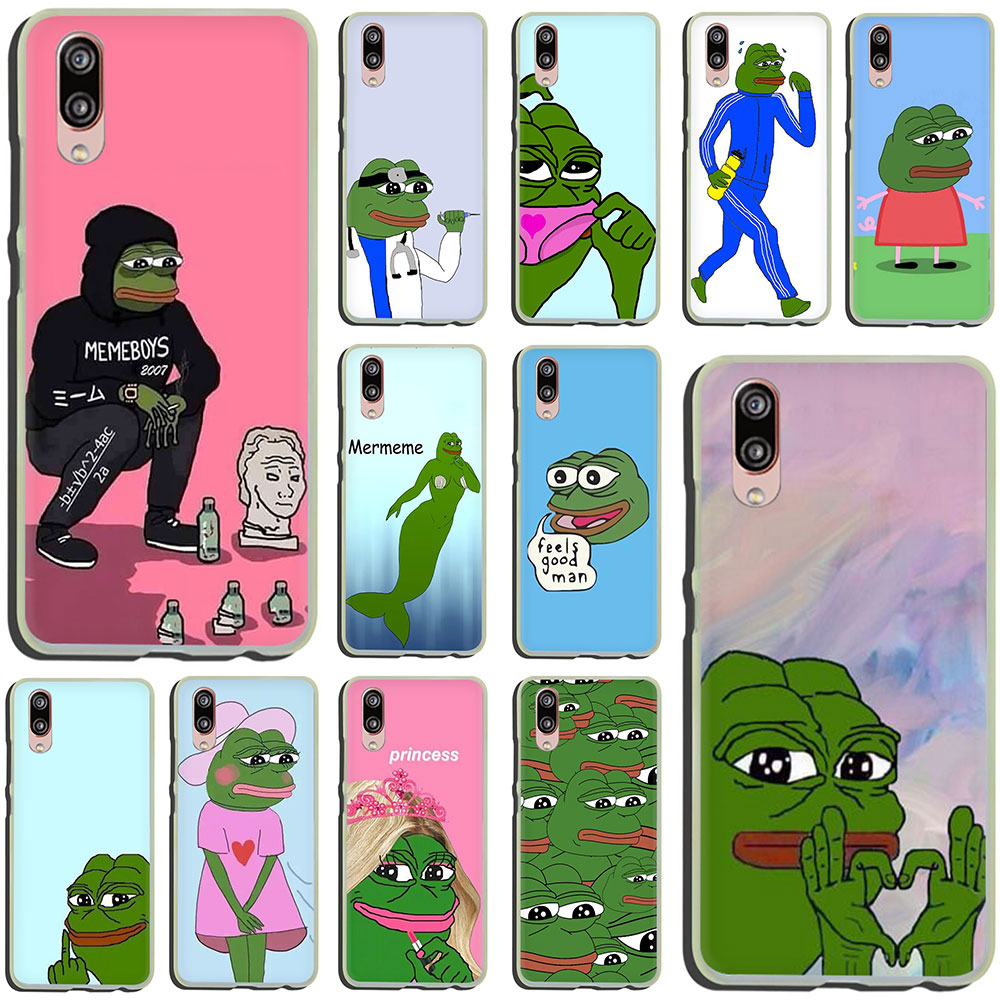 Internet Meme Smug Frog Pepe Hard Phone Case for Huawei P30 P10 Plus P20 Lite Mini 2016 2017 Pro P smart 2019 image
