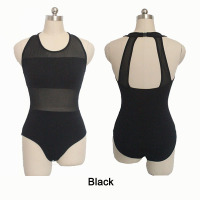Retail Ready To Shipping White Cotton Lycra With Mesh Leotards For Dance Dance Leotards Tank For