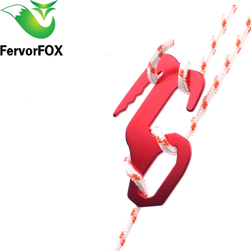 10 Pcs Aluminum Alloy Tent Axeman  Paracord Buckle Rope Puller Adjust Outdoor Equipment Travel Kit Guy Line