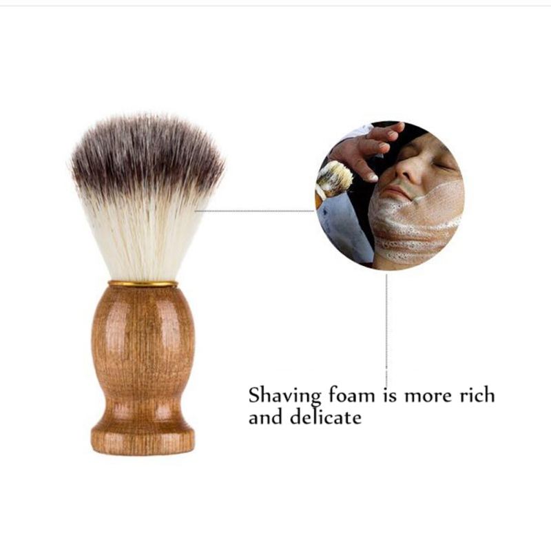 Man/'s Beard Brush Using Advanced Bristles Solid Wood Handle High-End Beard Brush 2019