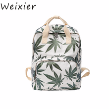 Weixier Now Korean Version Of Maple Leaf Small Fresh Female Student Nylon Bags Casual Fashion Computer