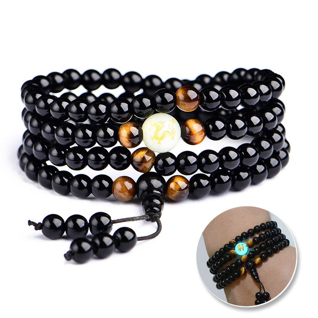 Luminous dragon mala bracelet