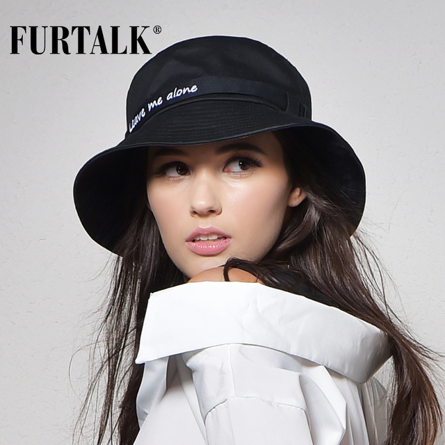 FURTALK Women&Men Bucket Hat for Fishing Pesca Womens and Mens Panama Hat Beach Cotton Hat Summer Hats for Women Fashion Design