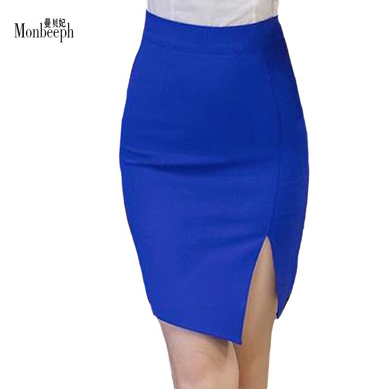 5da222cb5 new plus size S-5XL black blue red Pencil Skirts Women Sexy Slim Package  Hip Skirt Ladies Sexy high waist OL skinny mini skirts