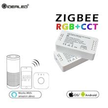 zigbee hub Led Controller LED RGBW/RGBCCT/WWCW/Dimmer Timer Zigbee Comptible With Amazon Echo Plus App Control