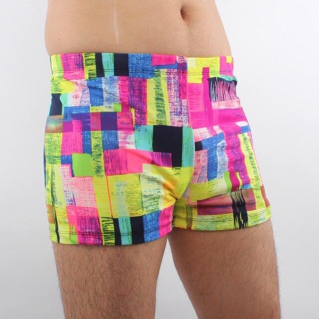 7e23a294df7d2 SWIMMART Hot Sale Lycra Fabric Sexy Swimsuit Vintage Print Beach Boxer  Swimwear for Man 2019 Men