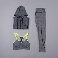 Breathable Sports Bra + Leggings + Shirt Yoga Set