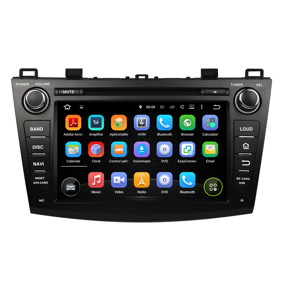 8 Inch Android 5 1 Quad Core HD1024 600 Car DVD Player For MAZDA 3 2009