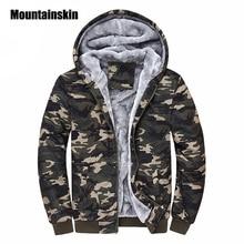 Mountainskin Winter Camouflage Hoodies Men Tracksuit Thick Army Spring Coats Men's Sweatshirts Fleece Male Hoodies 4XL EDA160