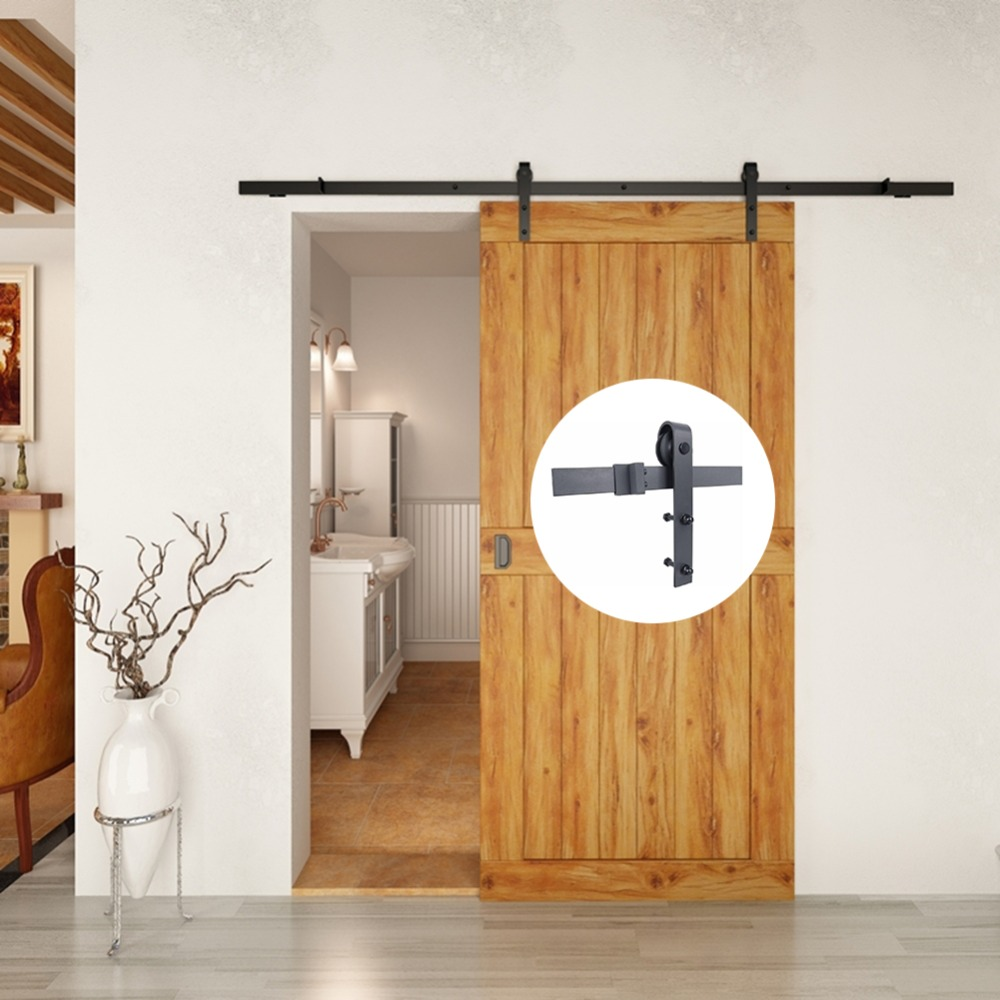 6.6 Ft Barn Wood Sliding Door Hardware