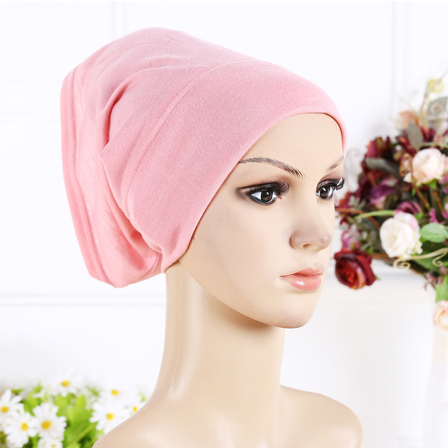 Designer Full Cover Inner Muslim Cotton Hijab Cap Islamic Head Wear Hat Underscarf 13 Colors Women Muslims Hat