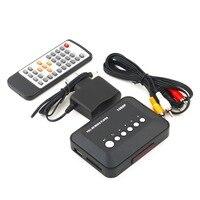 1Pcs 1080P HD SD MMC TV Videos SD MMC RMVB MP3 Multi TV USB HDMI Media