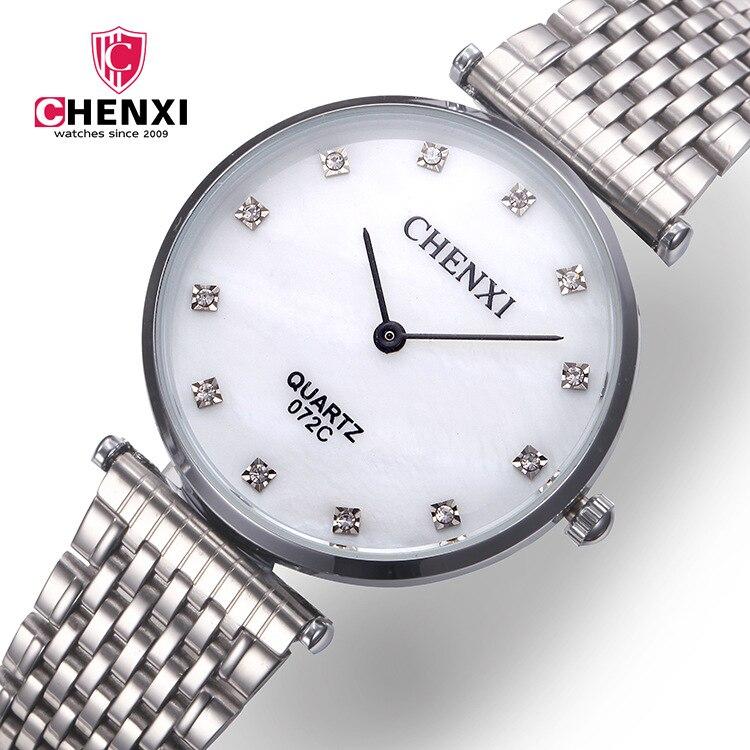 Chenxi Brand Watches Men Woman Reloj Hombre Fashion Luxury Quartz Wristwatches 2018 Stainless Full Steel Bracelet Casual Watches