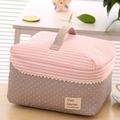 Free Shipping Portable Cosmetic Bag Lingerie Bra Underwear Dot Bags Makeup Organizer Storage Case Travel Toiletry Bag