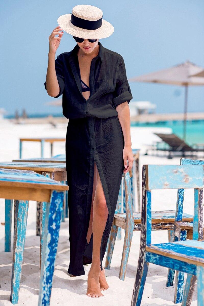 Pareo Beach White Cover Up Chiffon Bikini Swimwear Women Robe De Plage Beach Cardigan Bathing Suit Swimsuit Long Blouse Dress saida de praia beach tunic swimwear pareo loose dress swimsuit cover up sarong beachwear 2016 bikini cover up robe de plage h308