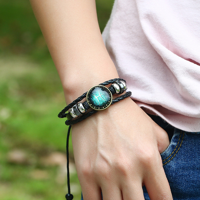 Bracelet en cuir signe du zodiaque totalement gratuit